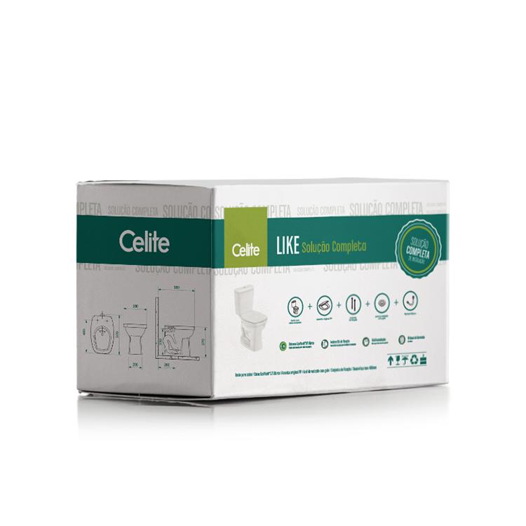 Kit Like Branco - Bacia com Caixa Acoplada e Itens de Instalação