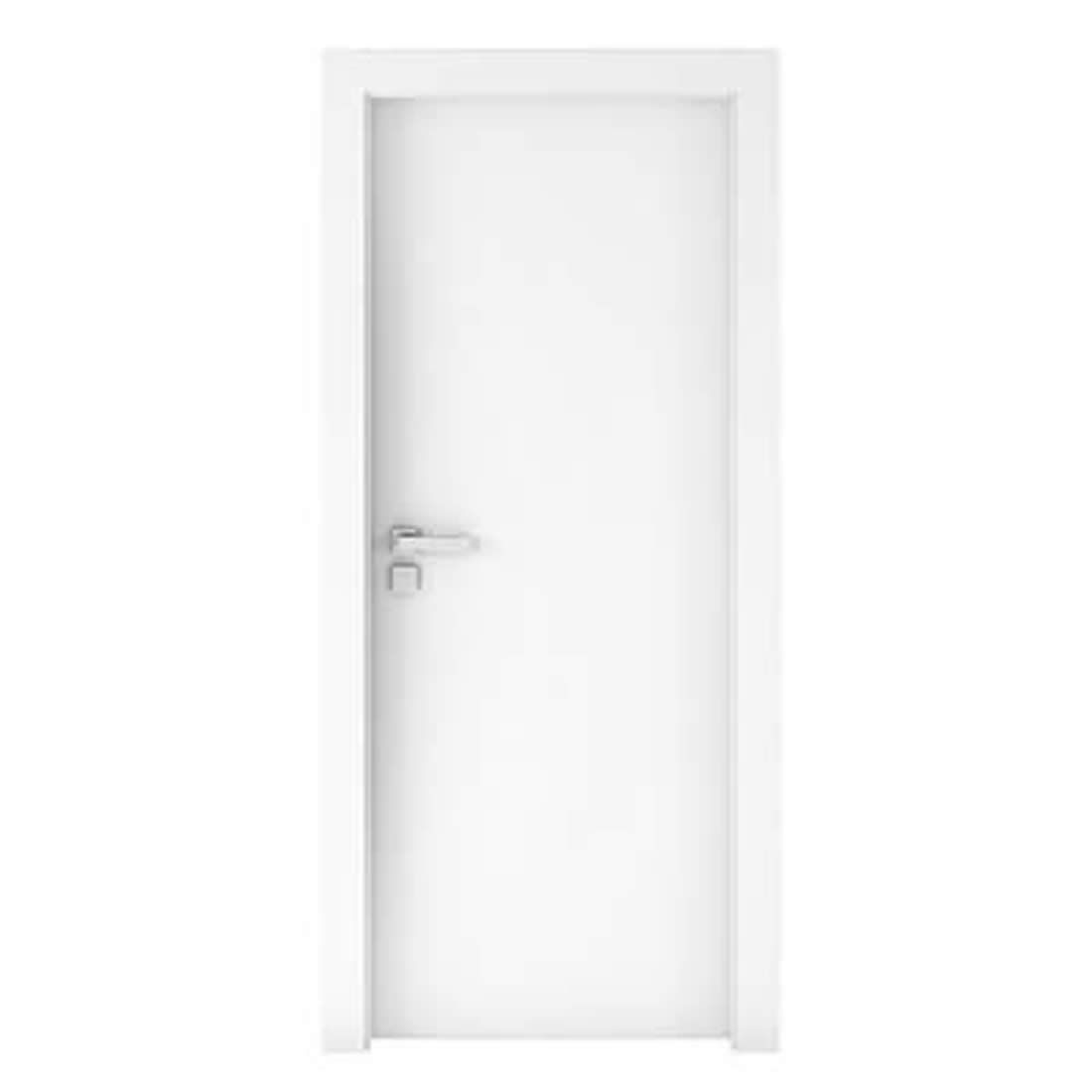 Kit Porta Concrem Wood 2,10 x 0,60 x 3,5 cm Direita Branca