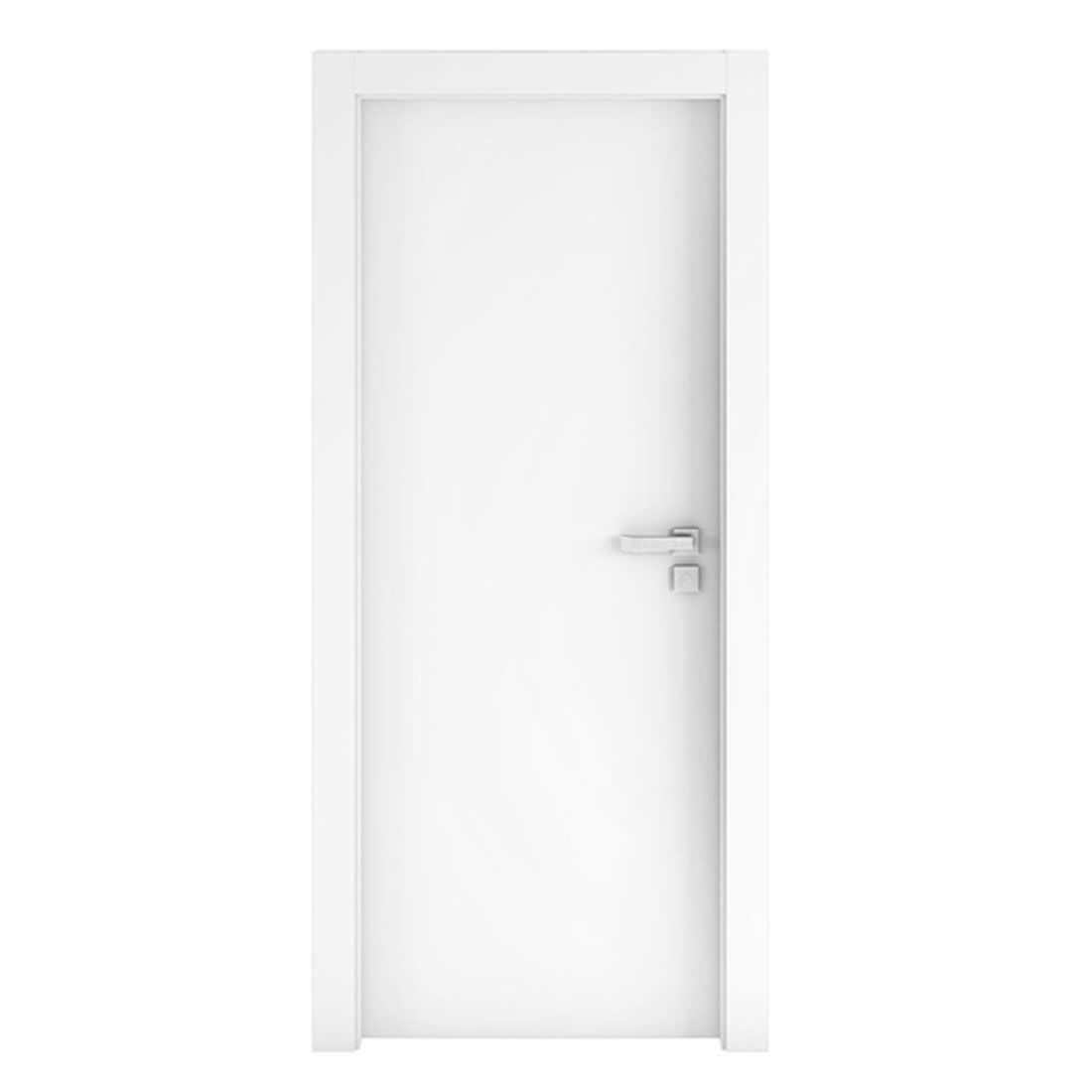 Kit Porta Concrem Wood 2,10 x 0,60 x 3,5 cm Esquerda Branca