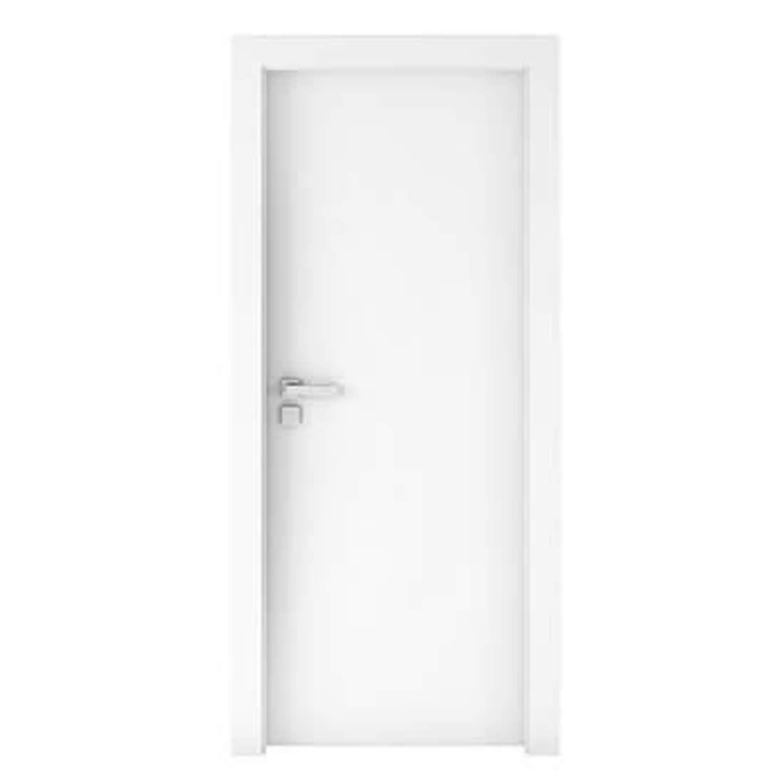 Kit Porta Concrem Wood 2,10 x 0,80 x 3,5 cm Direita Branca