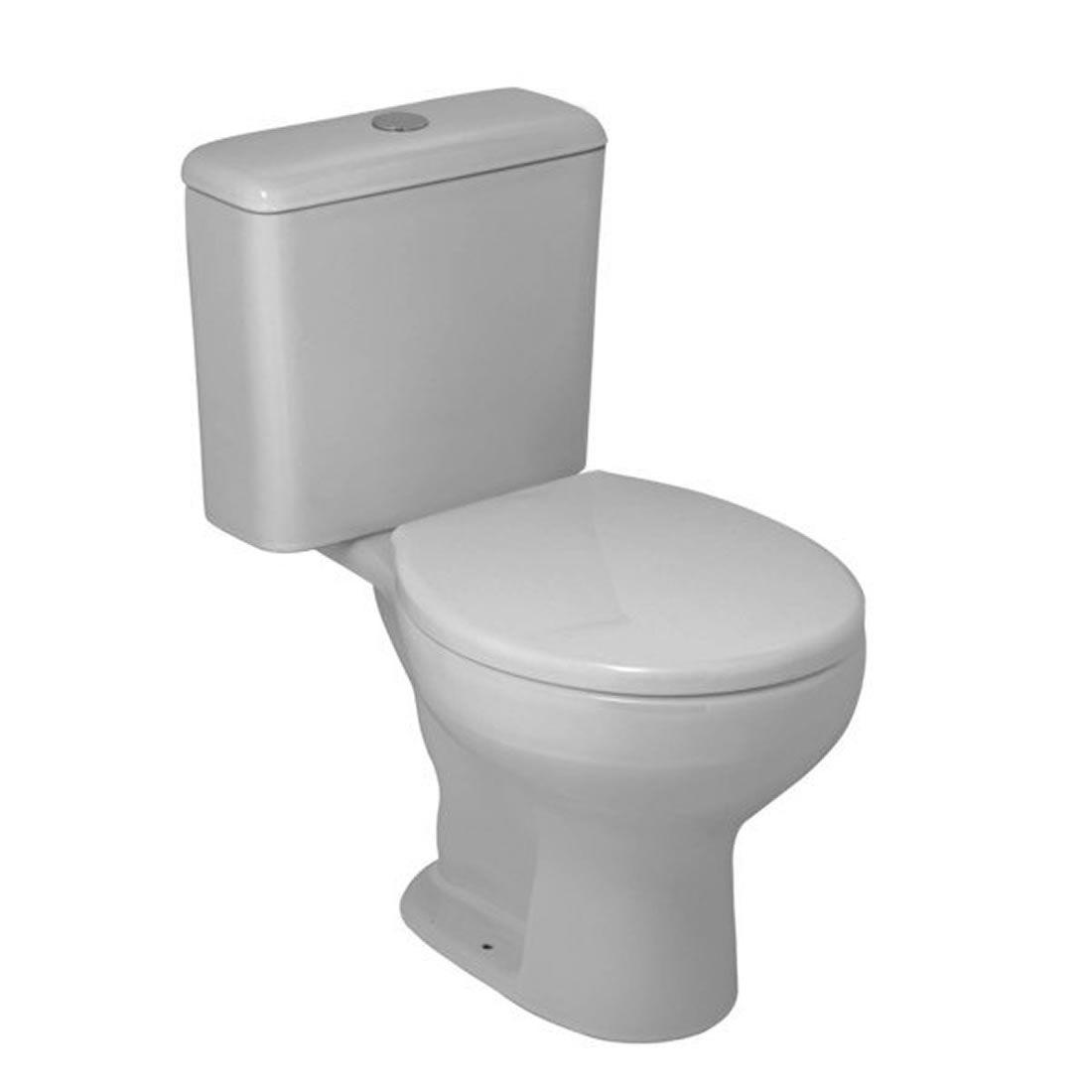 Conjunto Vaso Sanitário com Caixa Acoplada 3/6L Ecoflush Azaleia Cinza Prata Celite