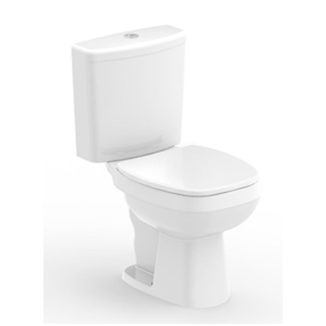 Conjunto Vaso Sanitário com Caixa Acoplada 3/6L Ecoflush City Branco Celite