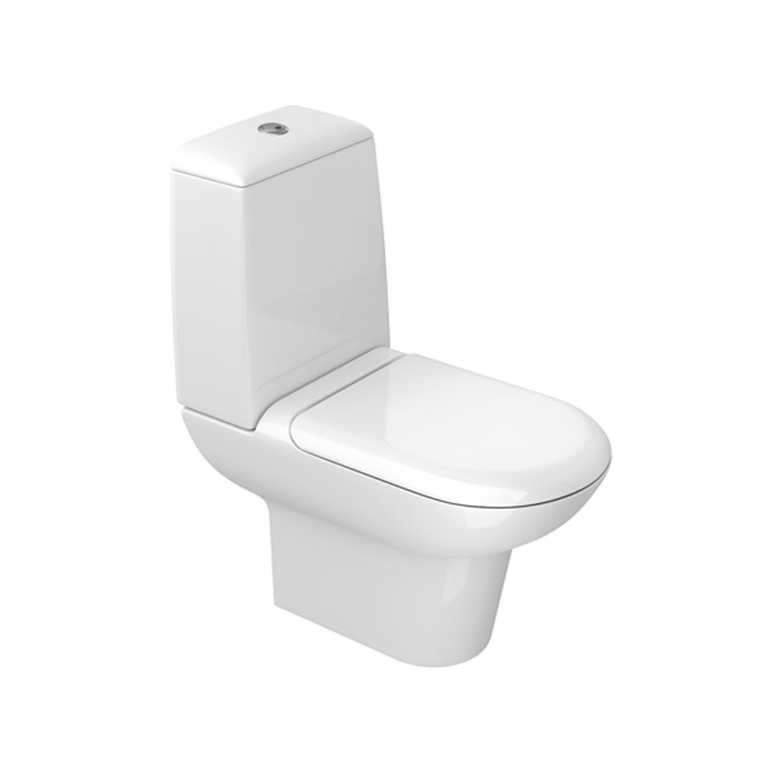 Conjunto Vaso Sanitário com Caixa Acoplada 3/6L Ecoflush Duomo Plus Branco Deca