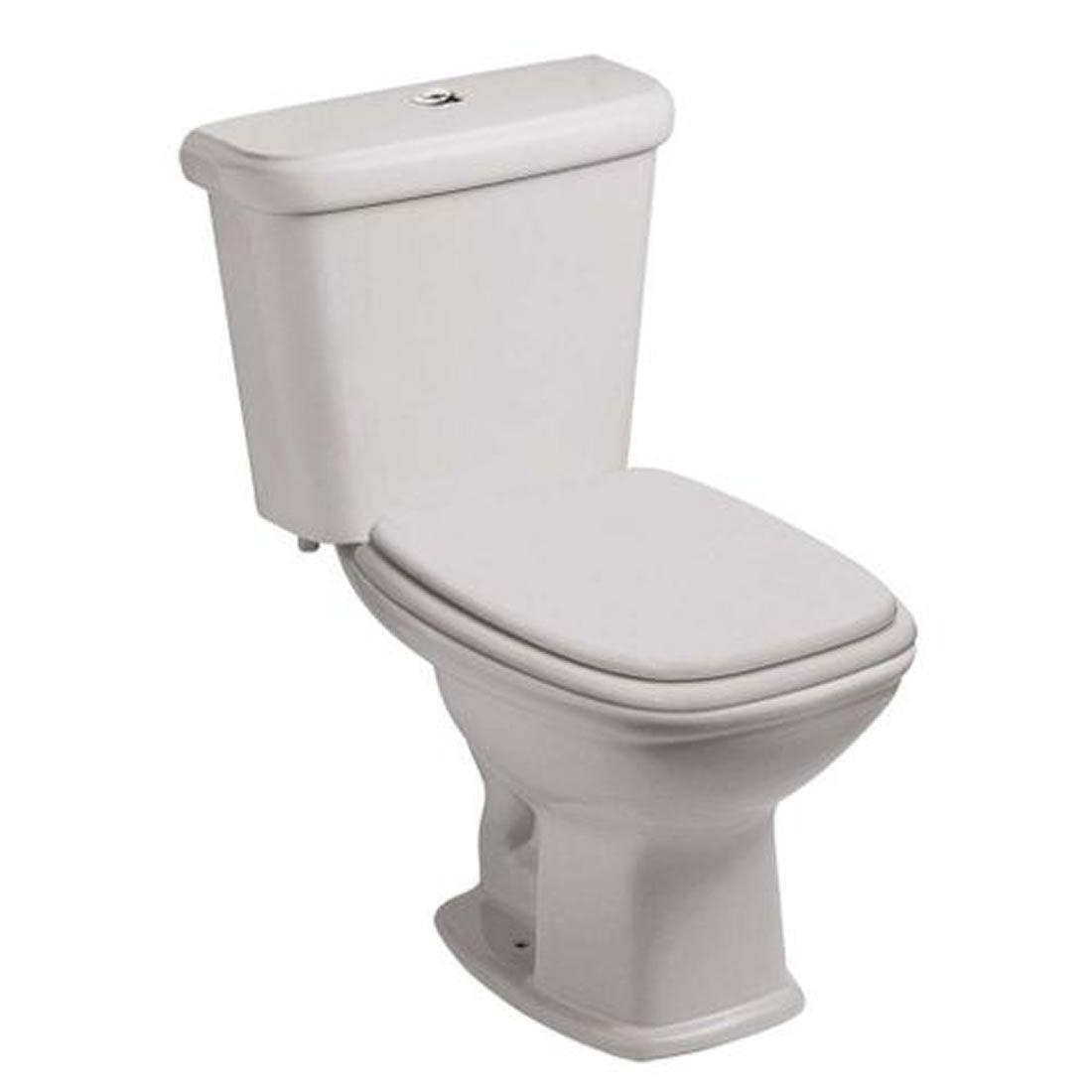 Conjunto Vaso Sanitário com Caixa Acoplada 3/6L Ecoflush Fit Cinza Prata Celite