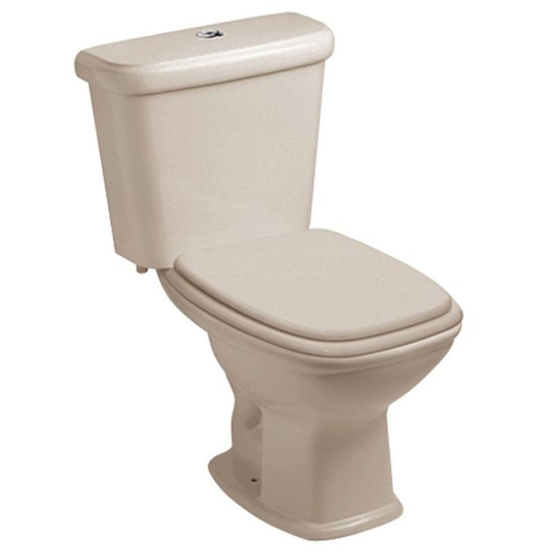Conjunto Vaso Sanitário com Caixa Acoplada 3/6L Ecoflush Fit Pergamon Celite