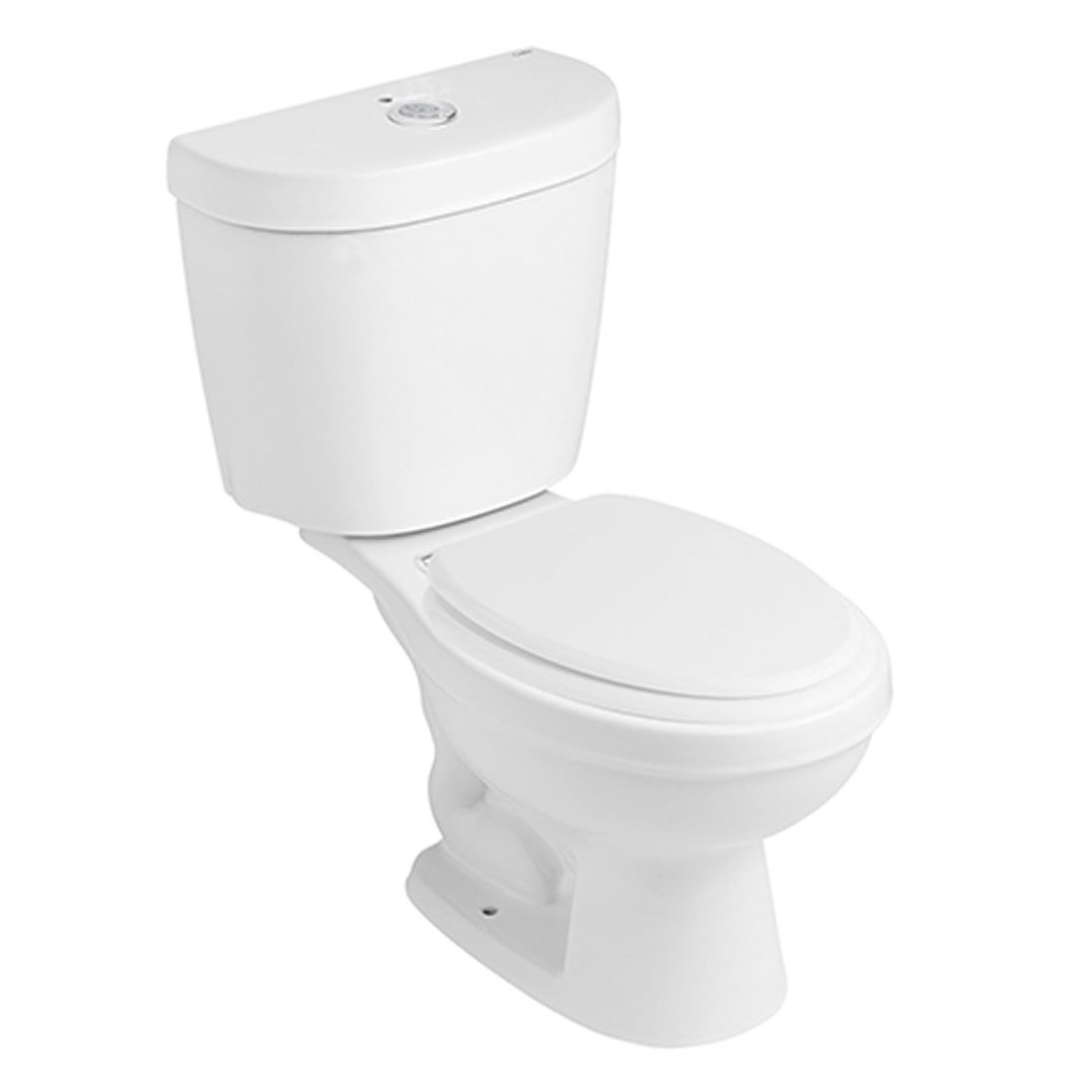 Conjunto Vaso Sanitário com Caixa Acoplada 3/6L Ecoflush Infantil Branco Celite