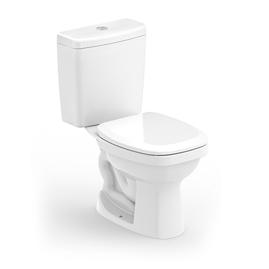 Conjunto Vaso Sanitário com Caixa Acoplada 3/6L Ecoflush Like Branco Celite