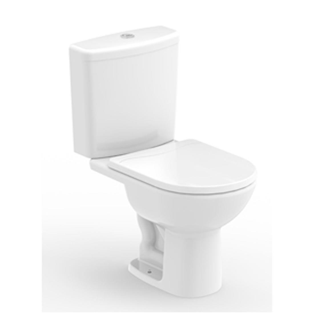 Conjunto Vaso Sanitário com Caixa Acoplada 3/6L Ecoflush Riviera Plus Branco Celite