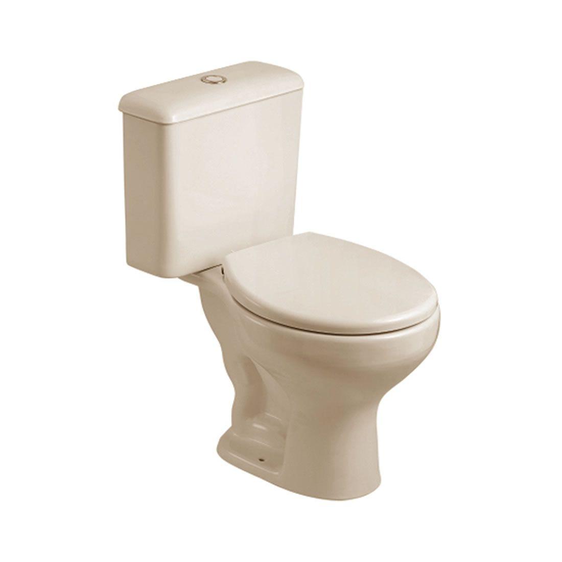Conjunto Vaso Sanitário com Caixa Acoplada 3/6L Ecoflush Saveiro Pergamon Celite