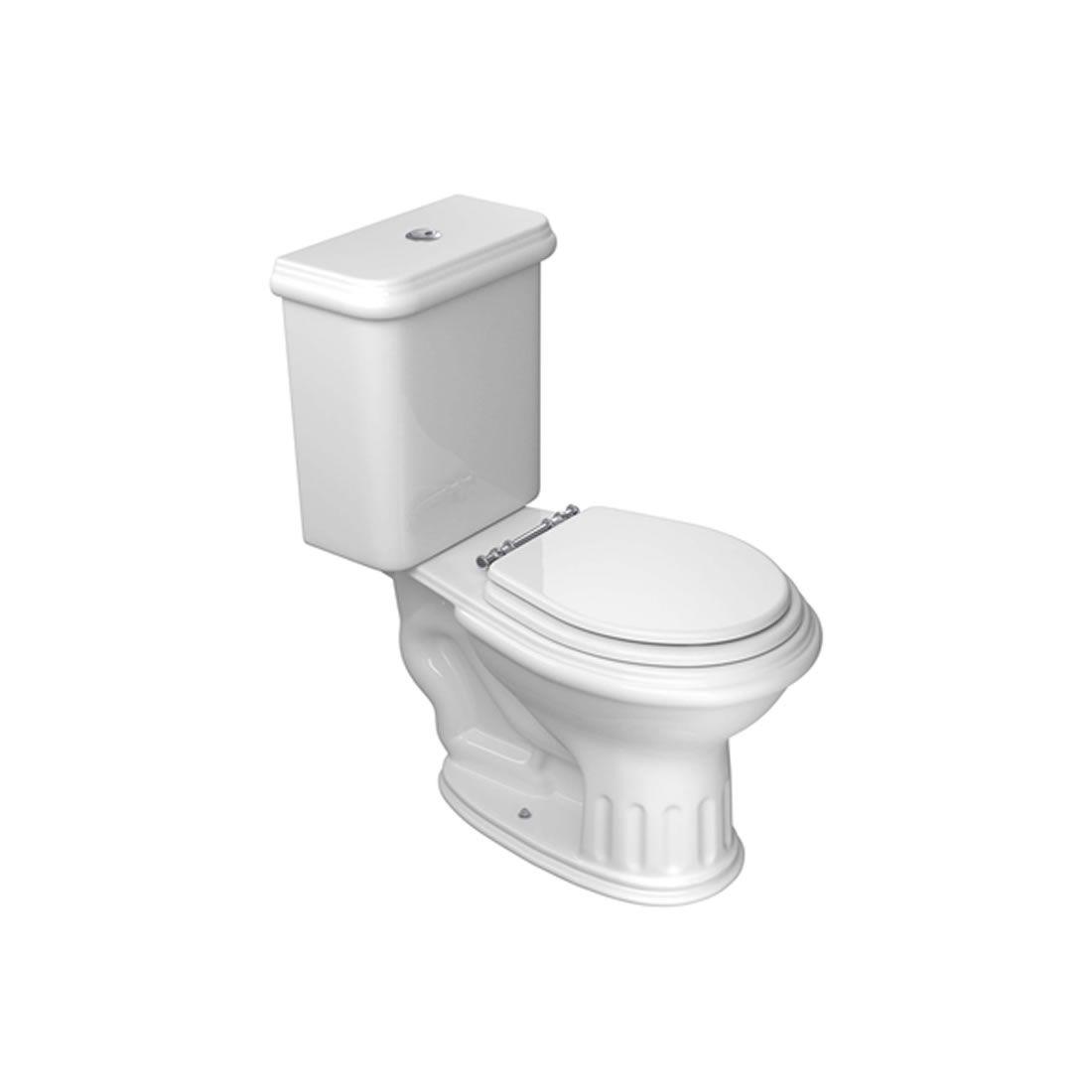 Kit Vaso Sanitário com Caixa Acoplada 3/6L Ecoflush Windsor Branco Deca