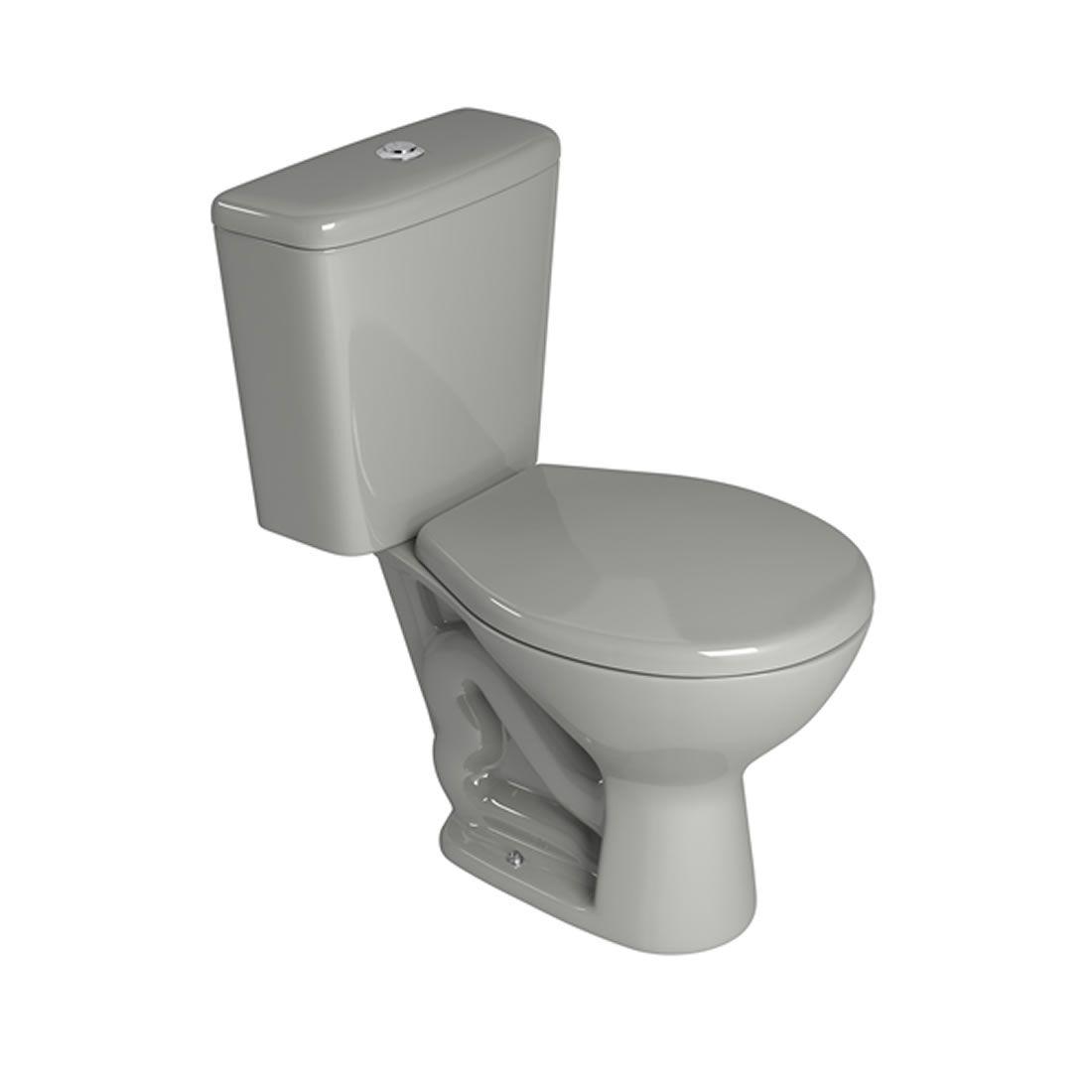 Conjunto Vaso Sanitário com Caixa Acoplada Deca Izy Cinza