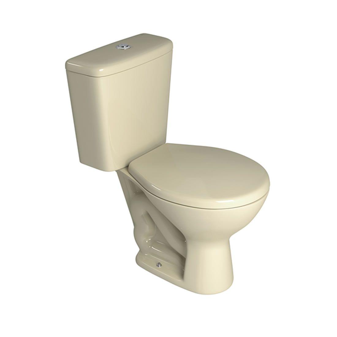 Conjunto Vaso Sanitário com Caixa Acoplada Deca Izy Creme