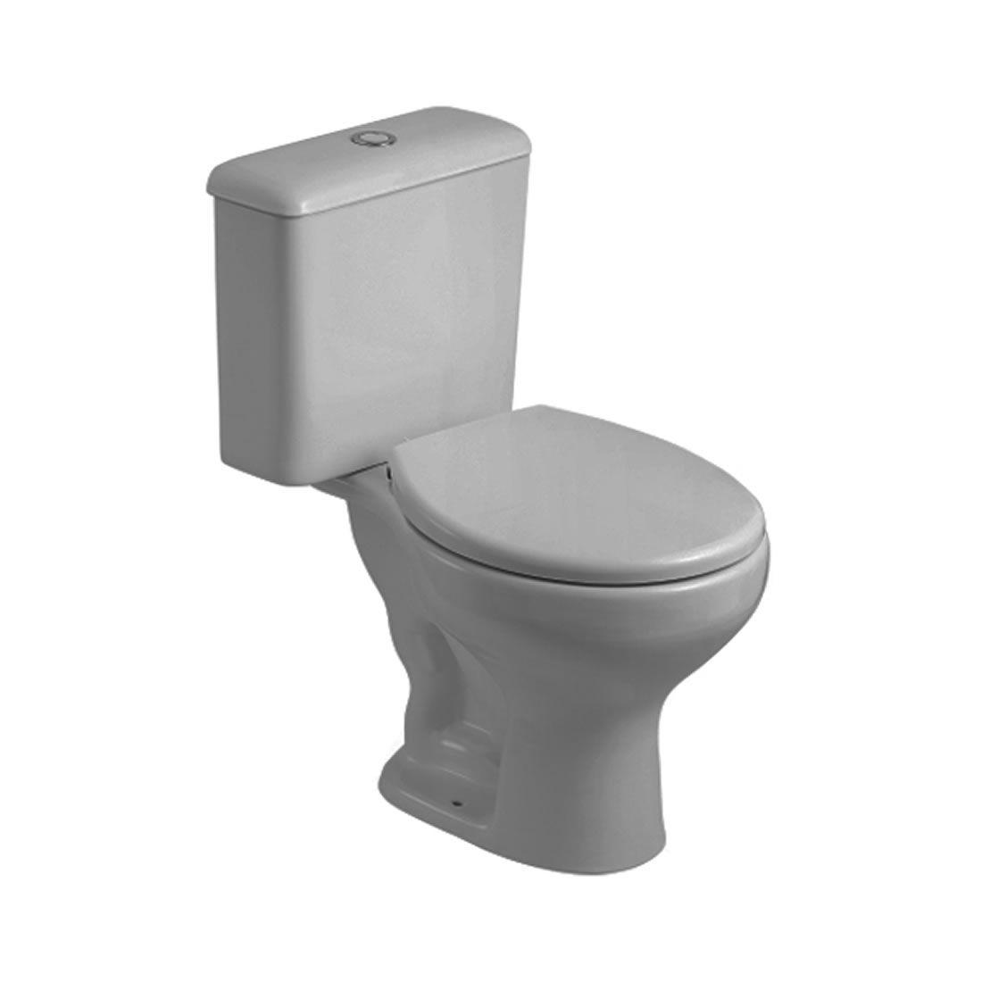 Conjunto Vaso Sanitário com Caixa Acoplada Saveiro Cinza Prata Celite