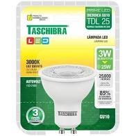 Lâmpada Dicróica 3W TDL LED 220V 5000K Taschibra