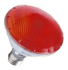 Lâmpada Flc Halógena Par 30 75W Vermelha Soquete E-27