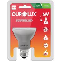 Lampada Ourolux Super Led GU10 6W Bivolt Luz Amarela 3000K