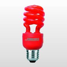 Lâmpada Taschibra PL Espiral 14W 220V Luz Vermelha