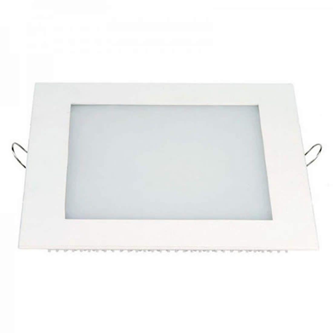Luminária de Led Taschibra 18W Quadrada Embutir 6500K