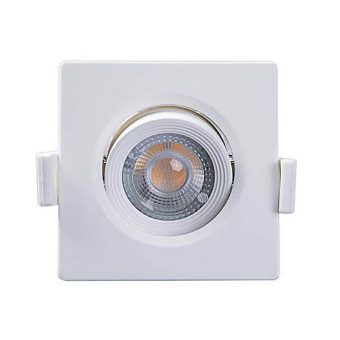 Luminária de Led Taschibra Spot Embutir Quadrada 5W 6500K