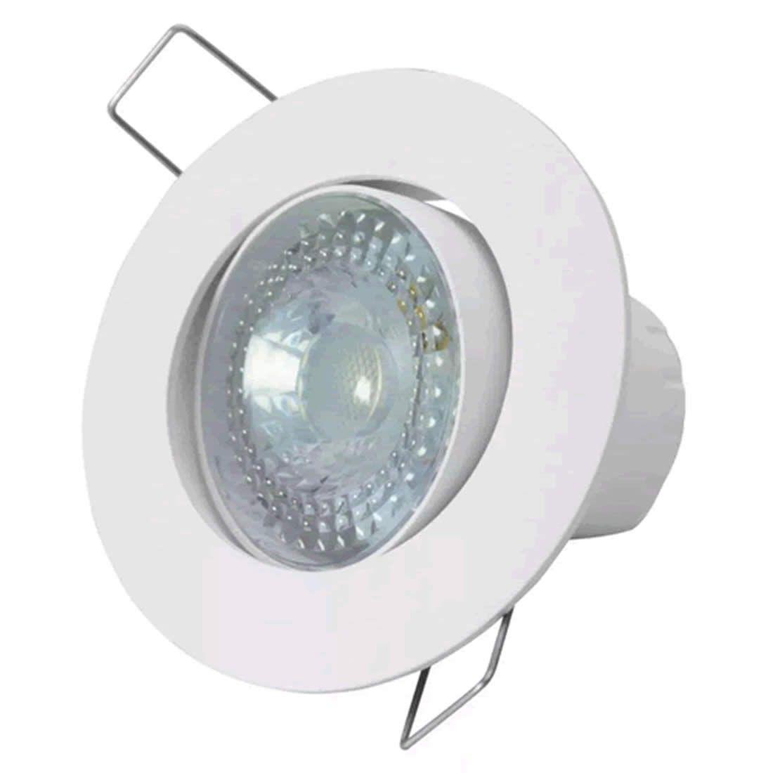 Luminária de Led Taschibra Spot Embutir Redonda 5W 3000K