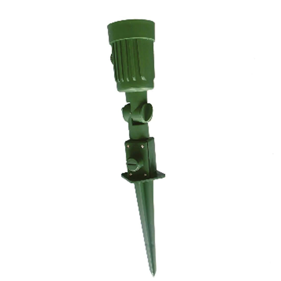 Luminária Dercolux Espeto Para Jardim 100W Verde Soquete E-27