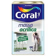 Massa Acrílica Coral 27 KG