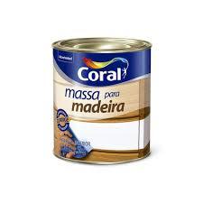 Massa Para Madeira Coral Branco 1,5 KG