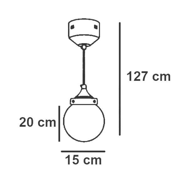 Pendente Taschibra de Led Ara Ambar 5W Ref 15050661