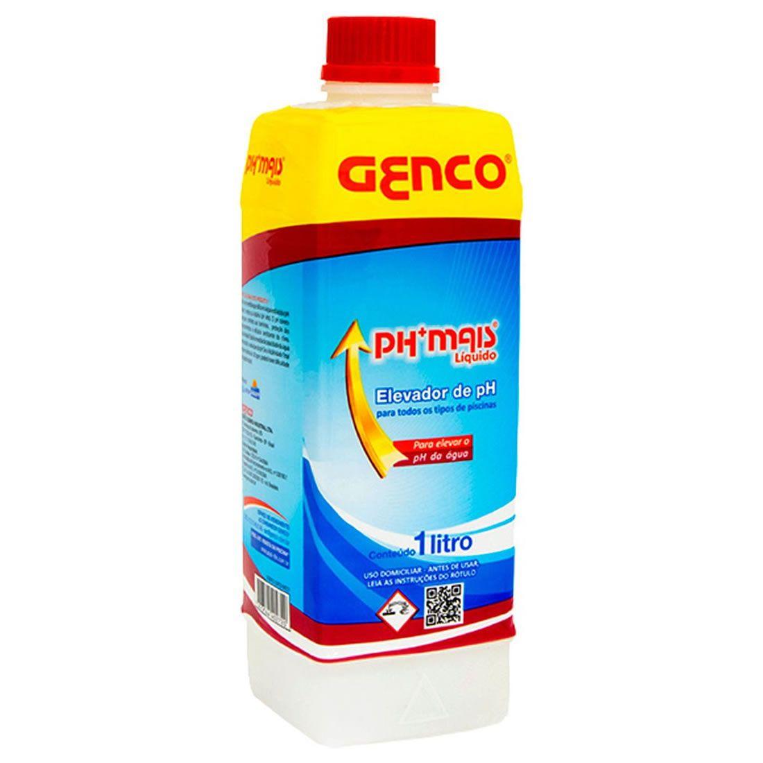 PH + Mais Liquido Elevador de PH 1Litro Genco