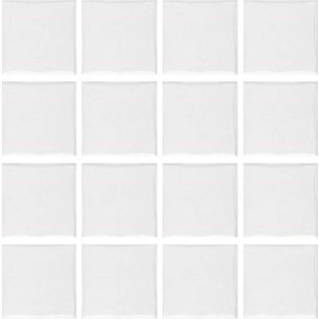Porcelanato Portobello Pastilha 7,5 x 7,5 Prisma Bianco Brilhante Ref 82722
