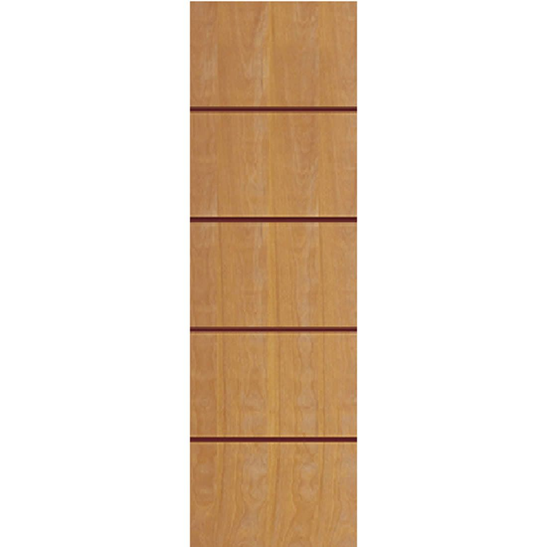 Porta 2,10 x 0,60m em Madeira Curupixa Semi Sólida Modelo 02 Frisada JB Paes