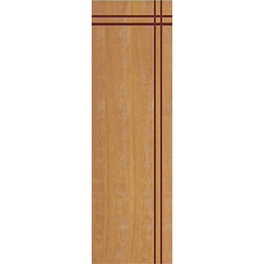 Porta 2,10 x 0,60m em Madeira Curupixa Semi Sólida Modelo 03 Frisada JB Paes