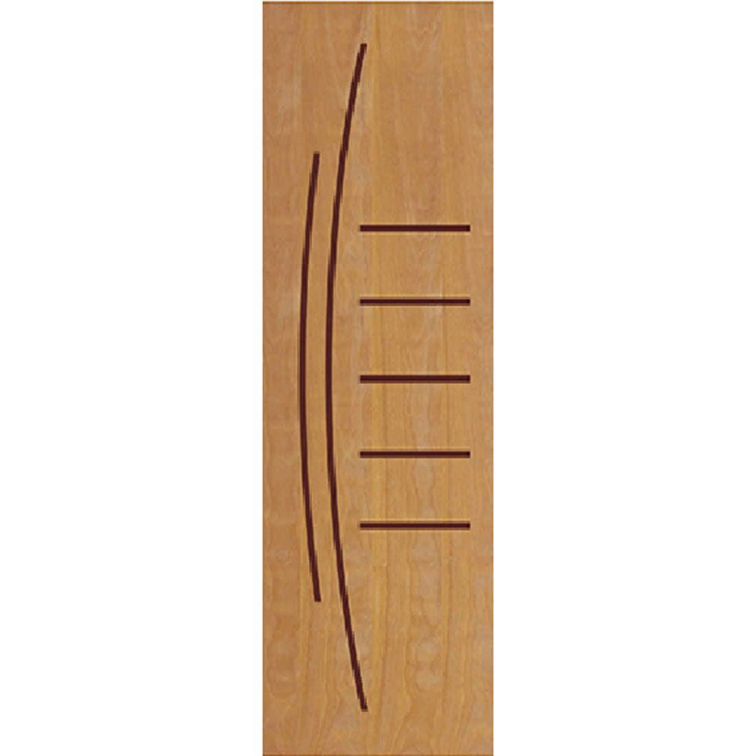 Porta 2,10 x 0,60m em Madeira Curupixa Semi Sólida Modelo 12 Frisada JB Paes