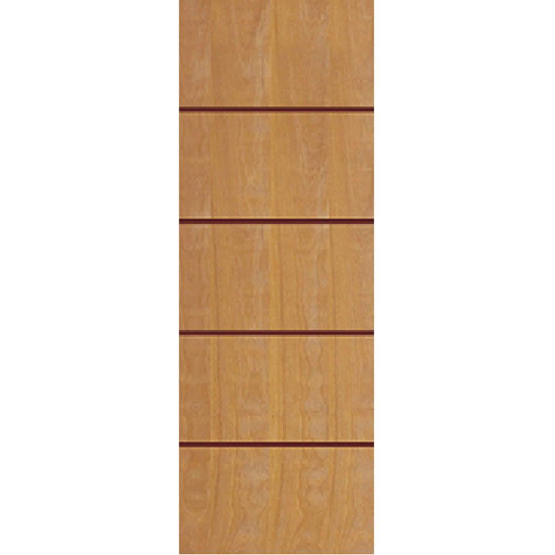 Porta 2,10 x 0,70m em Madeira Curupixa Semi Sólida Modelo 02 Frisada JB Paes