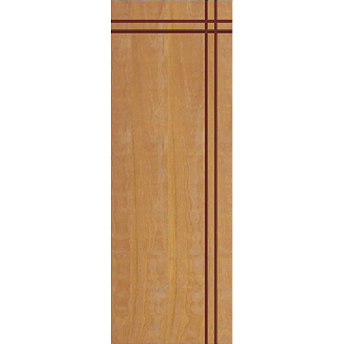 Porta 2,10 x 0,70m em Madeira Curupixa Semi Sólida Modelo 03 Frisada JB Paes