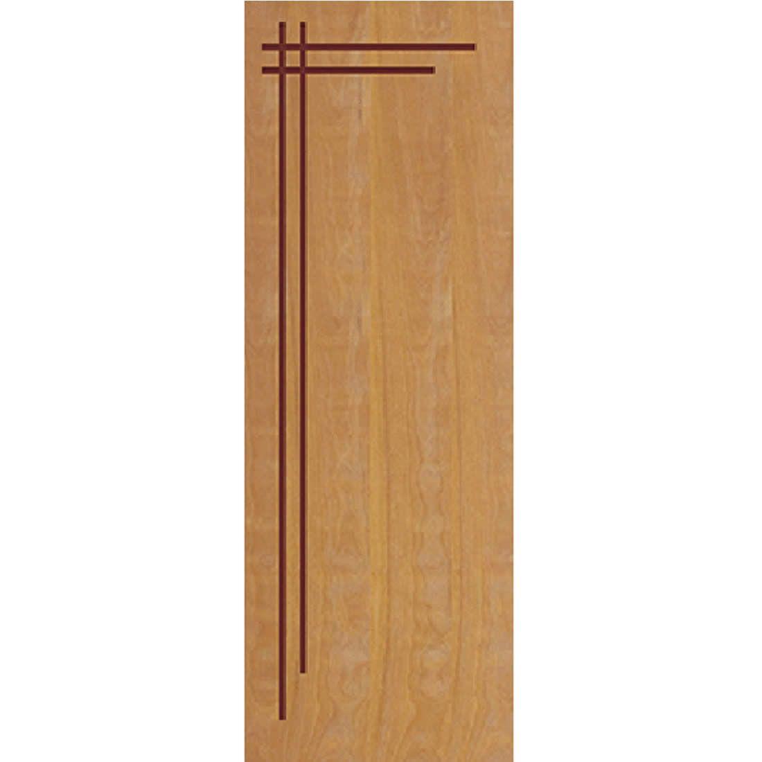 Porta 2,10 x 0,70m em Madeira Curupixa Semi Sólida Modelo 06 Frisada JB Paes