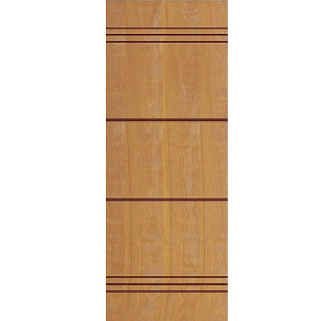 Porta 2,10 x 0,70m em Madeira Curupixa Semi Sólida Modelo 08 Frisada JB Paes