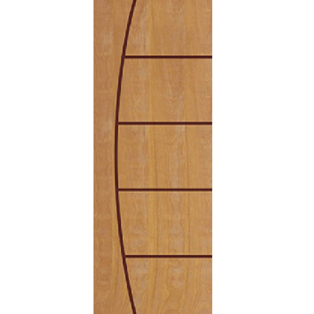 Porta 2,10 x 0,70m em Madeira Curupixa Semi Sólida Modelo 09 Frisada JB Paes