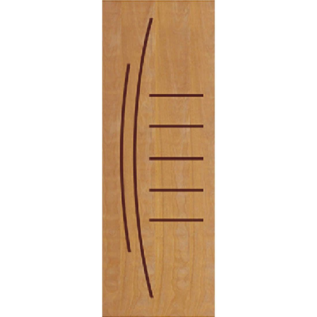 Porta 2,10 x 0,70m em Madeira Curupixa Semi Sólida Modelo 12 Frisada JB Paes