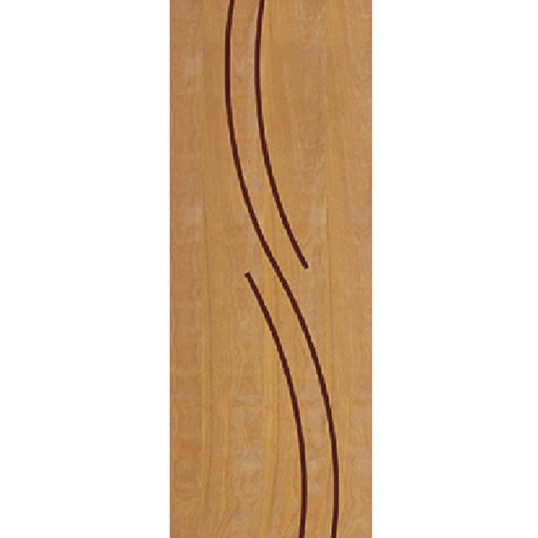 Porta 2,10 x 0,70m em Madeira Curupixa Semi Sólida Modelo 25 Frisada JB Paes