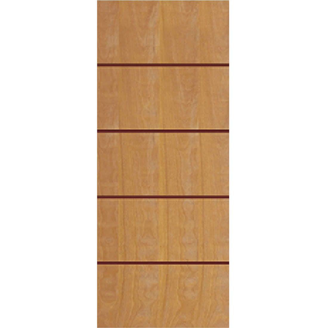 Porta 2,10 x 0,80m em Madeira Curupixa Semi Sólida Modelo 02 Frisada JB Paes
