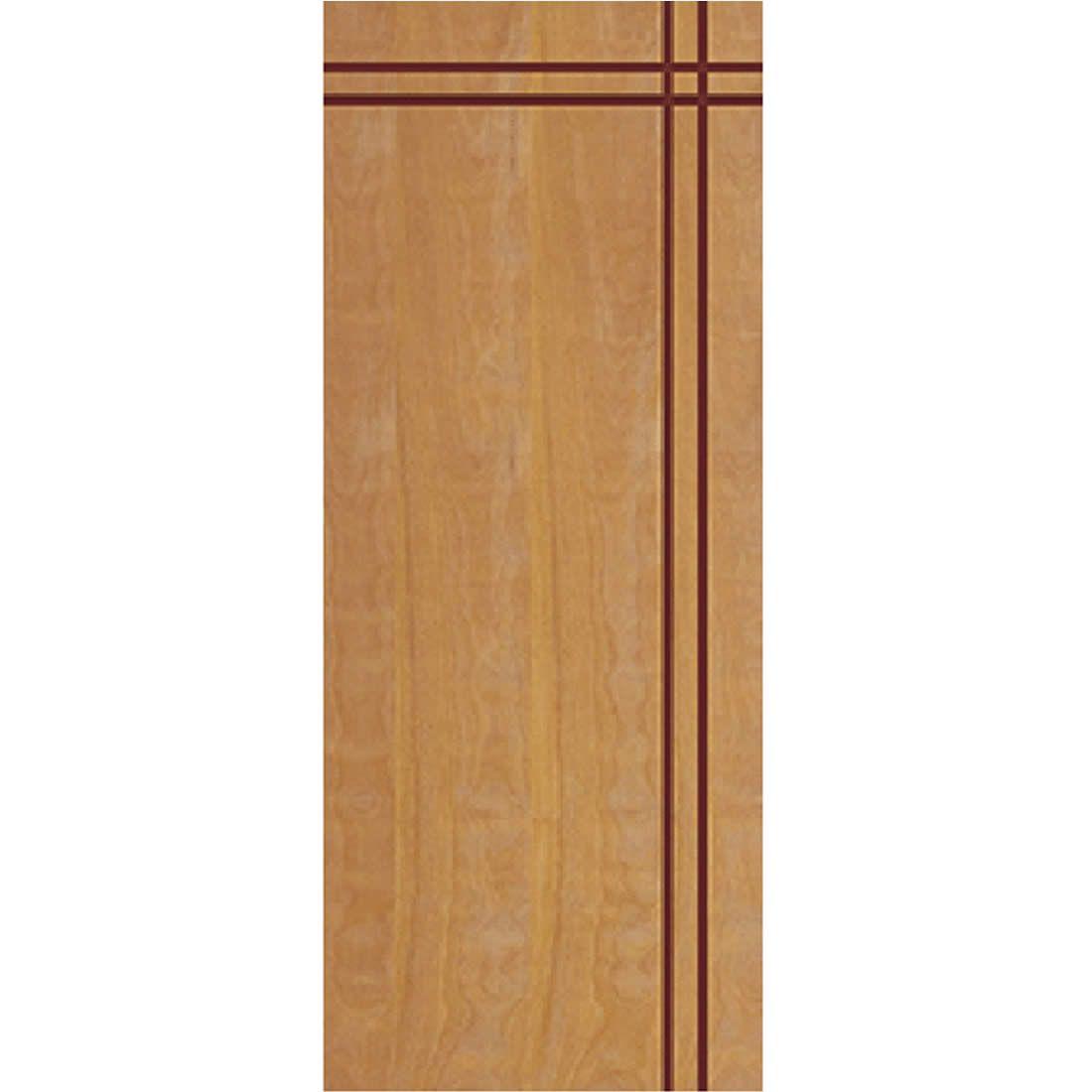 Porta 2,10 x 0,80m em Madeira Curupixa Semi Sólida Modelo 03 Frisada JB Paes