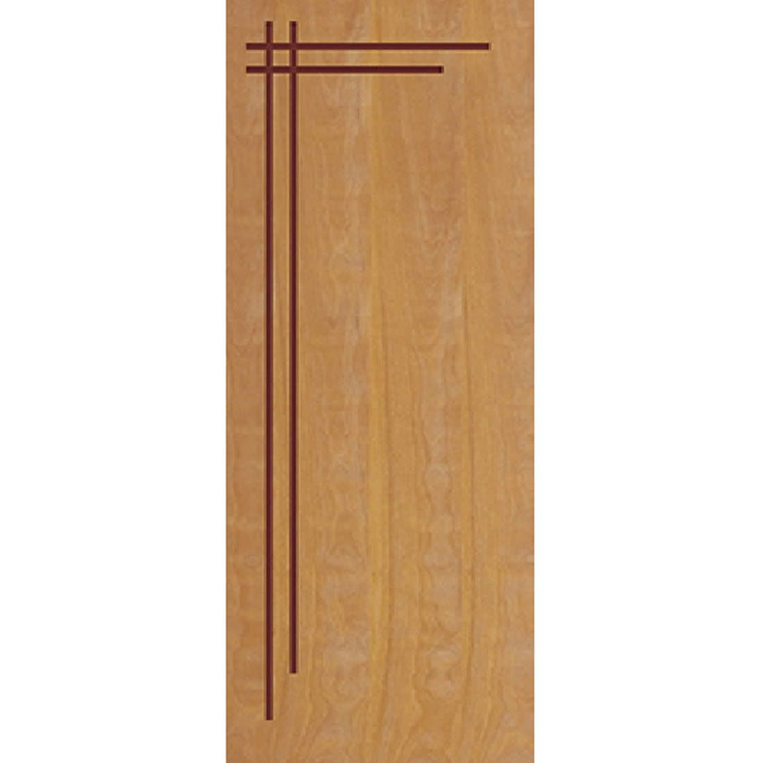 Porta 2,10 x 0,80m em Madeira Curupixa Semi Sólida Modelo 06 Frisada JB Paes