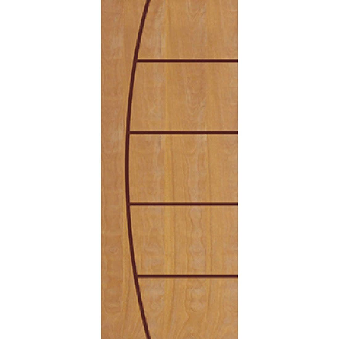 Porta 2,10 x 0,80m em Madeira Curupixa Semi Sólida Modelo 09 Frisada JB Paes
