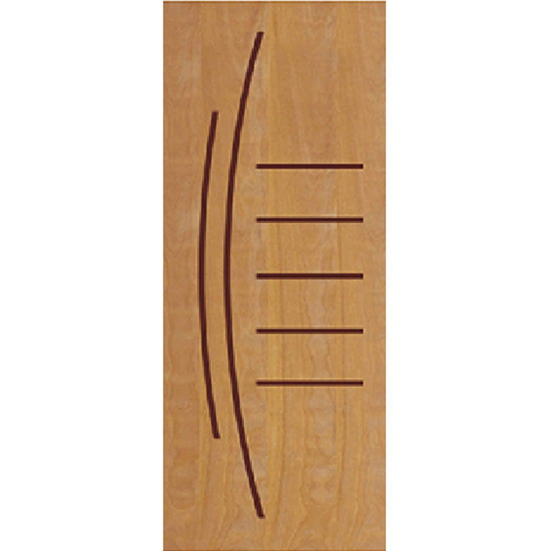 Porta 2,10 x 0,80m em Madeira Curupixa Semi Sólida Modelo 12 Frisada JB Paes
