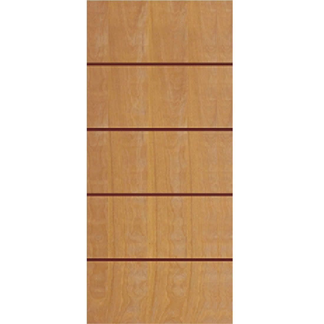 Porta 2,10 x 0,90m em Madeira Curupixa Semi Sólida Modelo 02 Frisada JB Paes