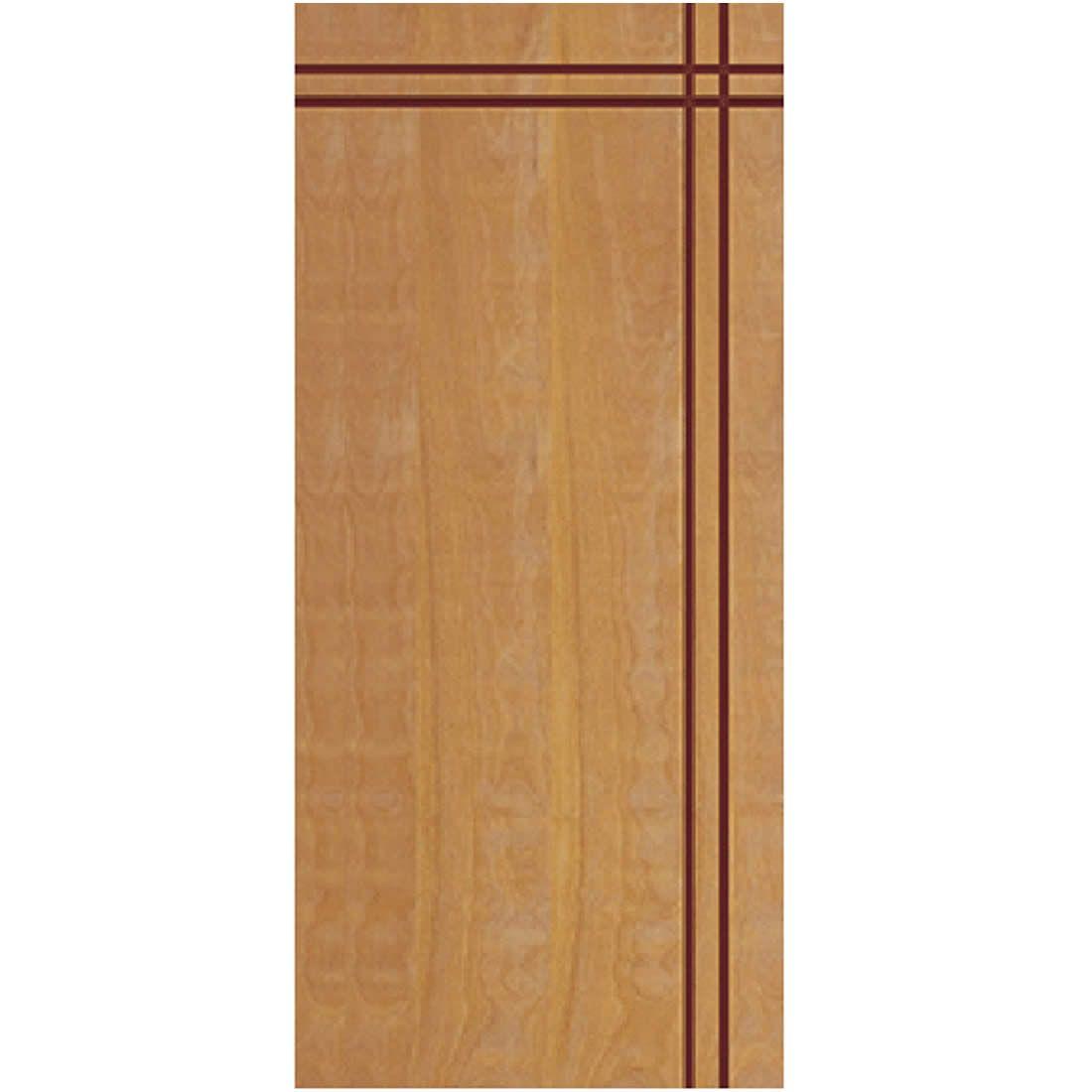 Porta 2,10 x 0,90m em Madeira Curupixa Semi Sólida Modelo 03 Frisada JB Paes