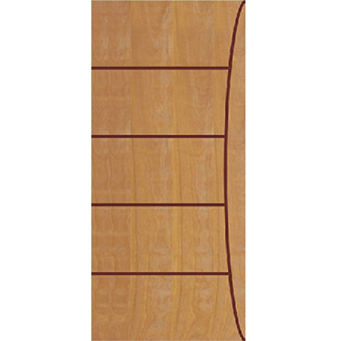 Porta 2,10 x 0,90m em Madeira Curupixa Semi Sólida Modelo 05 Frisada JB Paes