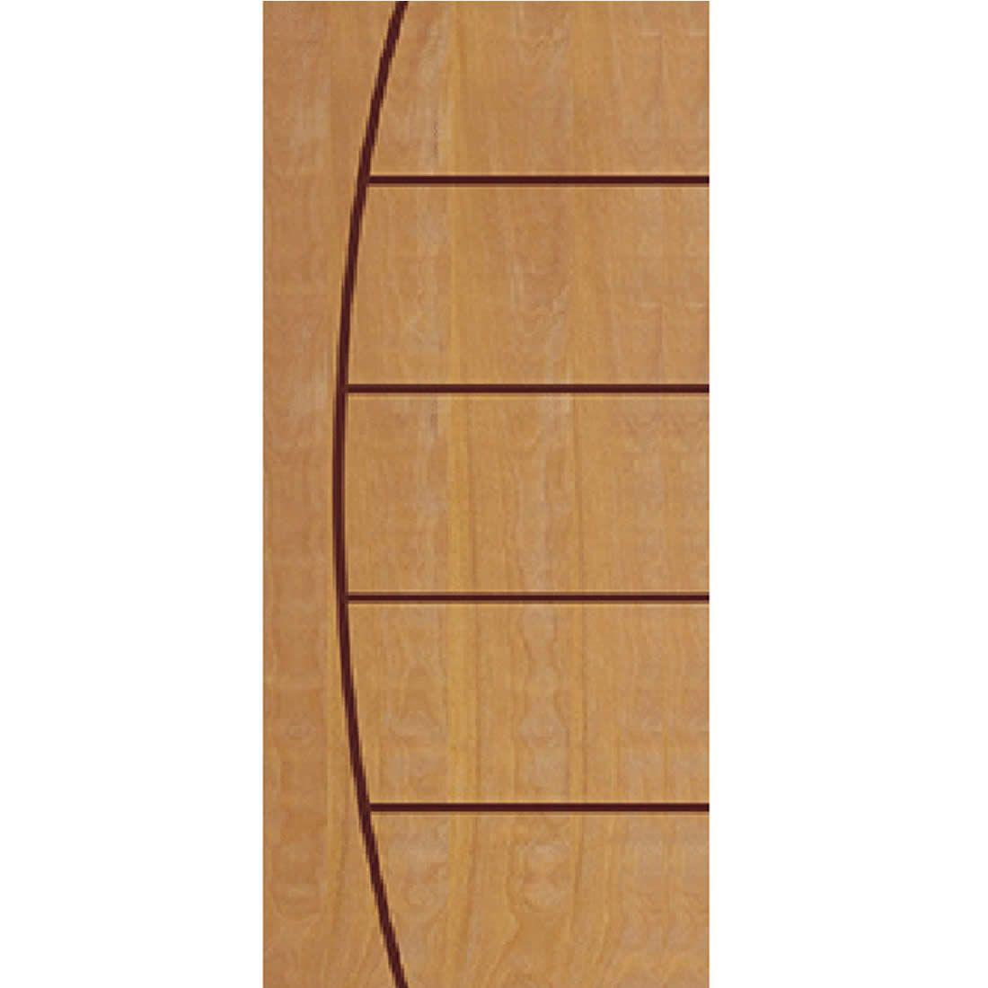 Porta 2,10 x 0,90m em Madeira Curupixa Semi Sólida Modelo 09 Frisada JB Paes