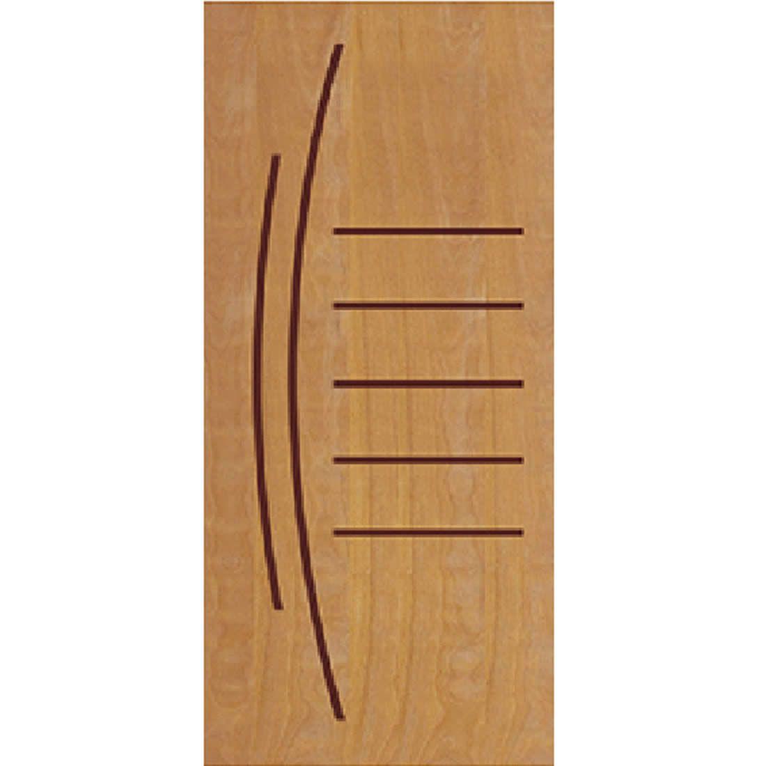 Porta 2,10 x 0,90m em Madeira Curupixa Semi Sólida Modelo 12 Frisada JB Paes